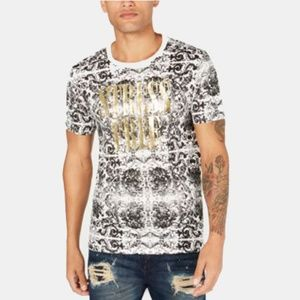 New Guess Men's Stress Free Graphic Short Tee